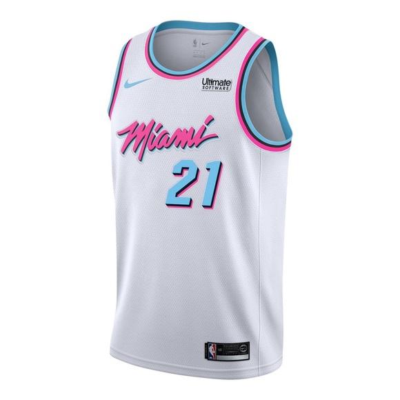 24438da1 Nike Shirts & Tops   Whiteside Miami Heat Vice Uniform Jersey   Poshmark